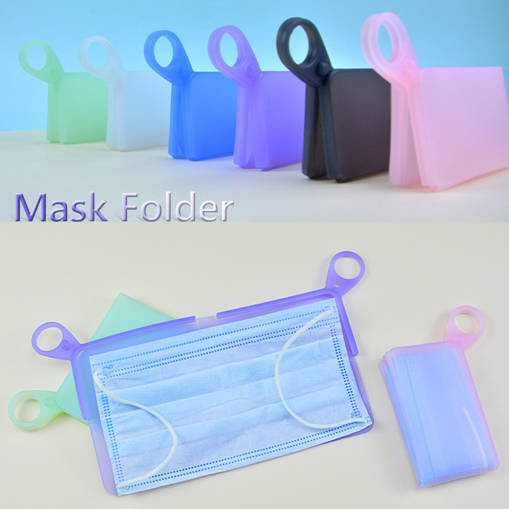 Reusable Face Storage Mask Folder Portable Storage Bag PP Plastic Sheet Foldable Silicone Disposable Eco-Friendly Organizer