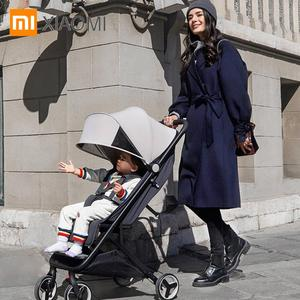 Image 5 - Xiaomi baby stroller 4 wheels shock absorption Antibacterial cushion Canopy cuts off ultraviolet rays 0 36 months baby trolley