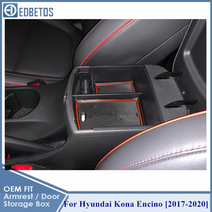 Image 4 - Armrest Box For Hyundai Kona Encino 2017 2018 2019 2020 Accessories Center Console Container Tray Holder Stowing Tidying