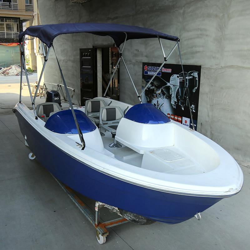 5m Fiberglass Fishing Boat With Self-draining High-speed Boat Fishing Boat Sport Ship Yacht