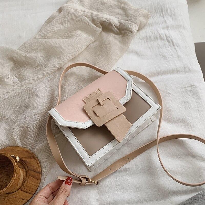 Small Clear Brand Designer Woman 2020 New Fashion Messenger Bag  Shoulder Bag Female Transparent Square PU Handbag