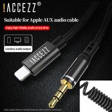 !! Уzz IOS adattatore Audio da 8 Pin a 3.5mm maschio AUX cuffie cavo convertitore per auto Splitter per iPhone iPhone 11 Pro 12 XS Max 8 7