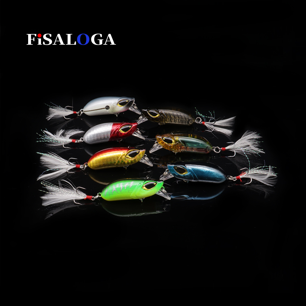 6pcs Lot Popper Fishing Lures Poper Crank Baits Bass Topwater Tackle 11cm//15.2g
