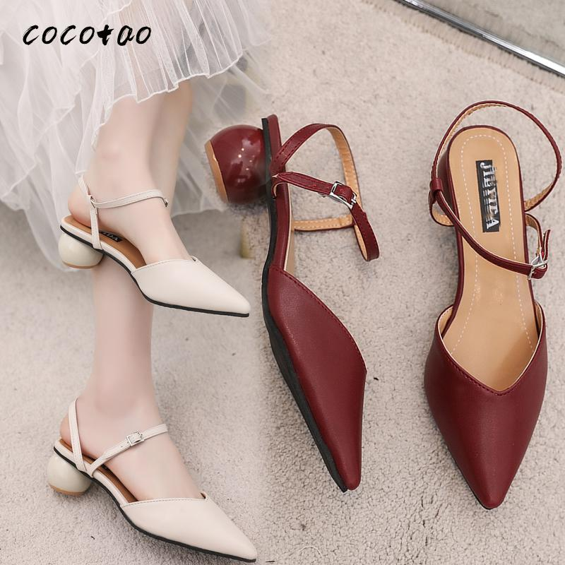 Sandals Women 2020 New Summer Fashion Baotou With A Word Buckle Wild Fairy Style Thick With Roman Women's Shoes