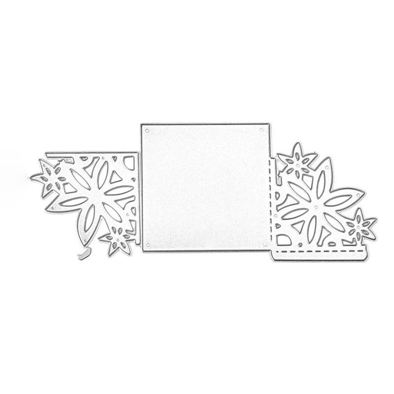 Naifumodo Frame Dies Border Corner Flower Metal Cutting Dies for Scrapbooking Craft Card Embossing Diecut Template Stencil