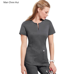 Hohe qualität krankenhaus medizinische peeling kleidung set frauen dental klinik schönheit salon uniform Mode Slim Fit chirurgische uniform