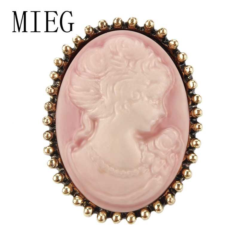 アソートカラー女王の頭の肖像ヴィンテージスタイルカメオブローチピン服ジュエリー