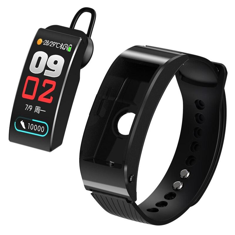 Inteligentna opaska na rękę połączenie poprzez bluetooth słuchawki inteligentny zegarek kalorie pulsometr monitor ciśnienia krwi licznik kroków snu inteligentna bransoletka