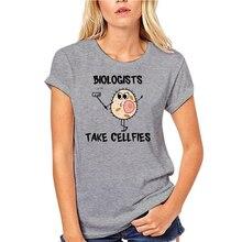 Модная Летняя мужская футболка для биологов, снимающих Селфи, забавная Мужская модная стильная футболка 2021 с изображением биологии шуток