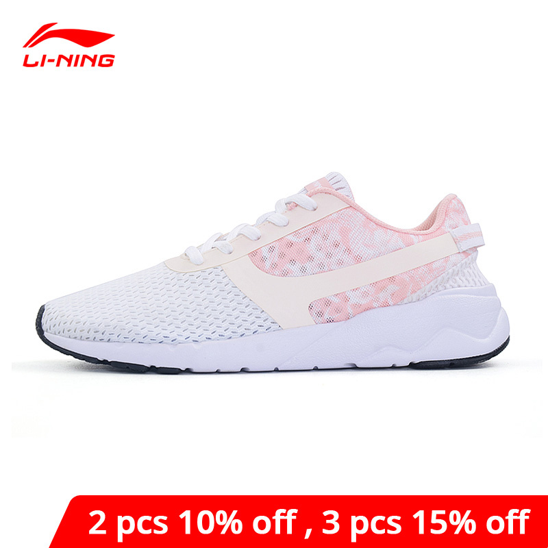 Li-Ning Women's Heather Sports Life Lifestyle Shoes Leisure Breathable Sneakers LiNing Li Ning Light Sport Shoes AGCM054 YXB042