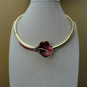 Image 2 - Yuminglai Dubai beaux bijoux belle fleur Rose bijoux pour les femmes FHK9553
