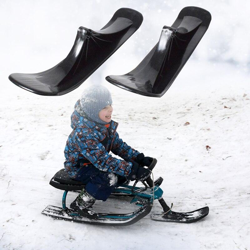 Uds los niños de Esquí Skate Snow Scooter chico de Ski Rack de trineo de rueda de Scooter de esquí de archivo adjunto convertidor Kit de junta