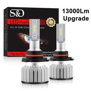 Image 1 - 2 Chiếc H1 LED 13000LM Mini Bóng Đèn Pha H7 LED H4 H8 H9 H11 Đèn Pha Bộ 9005 HB3 9006 HB4 9012 Tự Động Đèn LED Ánh Sáng