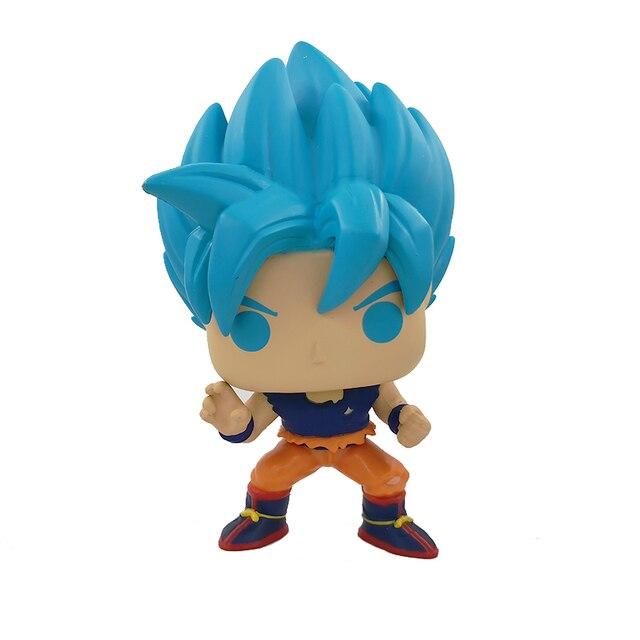 Funko POP Dragon Ball SSGSS GOKU dessin animé Anime 10cm figurine en vinyle jouets modèle à collectionner Original avec boîte