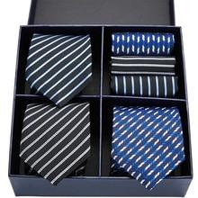 100% шелковый галстук тощий цветочный платок 7.5 см галстук комплект высокая мода плед связей для мужчин тонкий мужские галстуки в подарочной коробке
