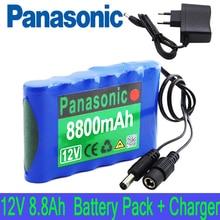 Портативный супер 12V 8800mah Аккумулятор Перезаряжаемый комплект литий-ионный батарей 8.8Ah CCTV Cam монитор с 12,6 v зарядным устройством