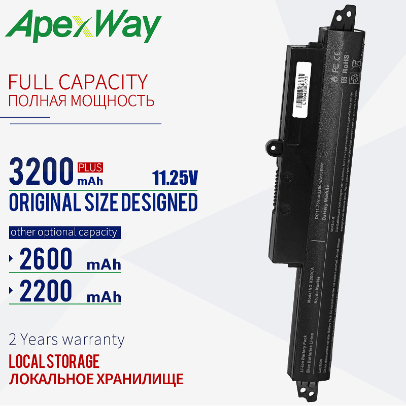 11.25 V laptop battery for ASUS VIVOBOOK <font><b>X200CA</b></font> A31N1302 A31N1302 A31LM9H x200ma 11.6