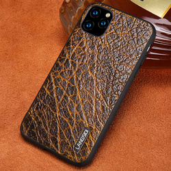 Kulit Asli Kulit Gandum Telepon Kasus untuk Apple iPhone 11 Pro Max X XS Max XR 7 8 6 6 S 7 Plus 8 PLUS 5 5S SE Retro Penutup Belakang