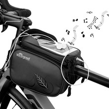Cycling Bike Top Tube Bag Rainproof MTB Bicycle Frame Front Head Cell Phone Touch Screen Bag Pannier Bike Accessories cbr outdoor cycling bike touch screen top tube bag black grey