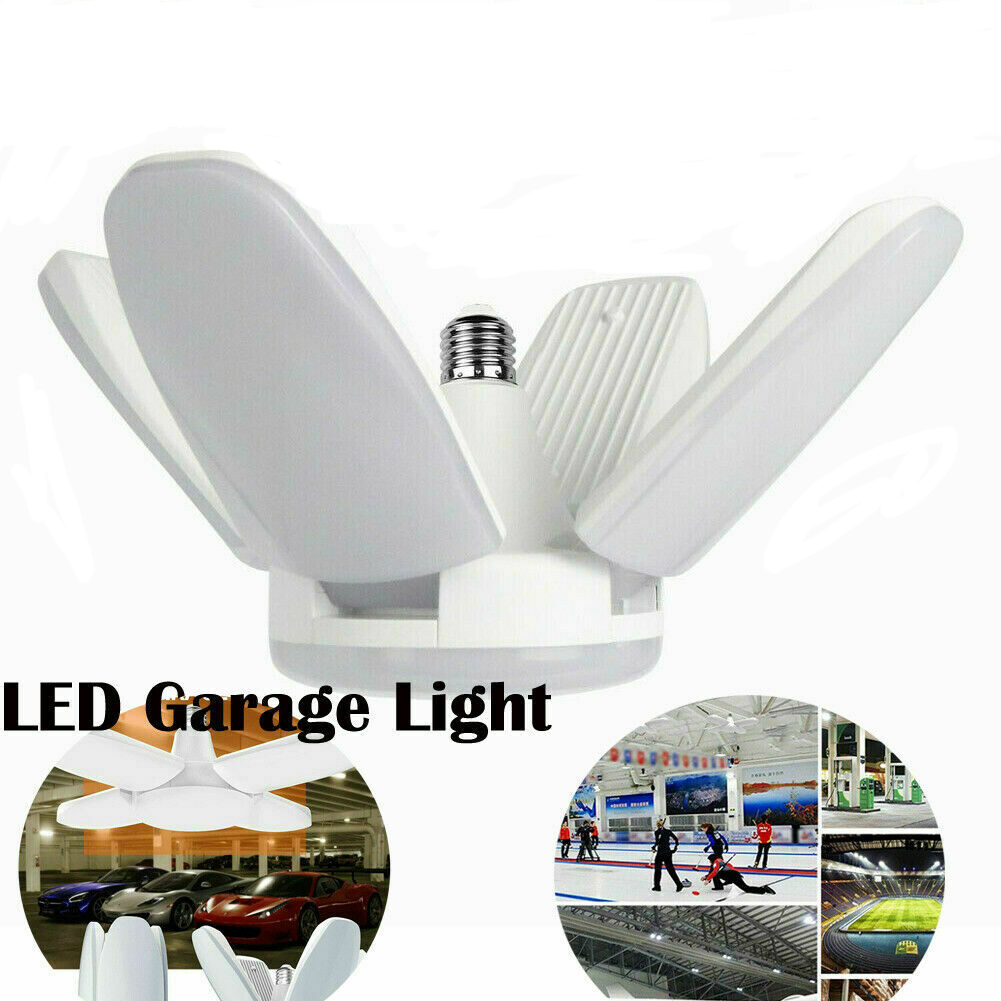 60W Deformable LED Garage Light Adjustable Tri-Fold Lamp High Bay Industrial Lamp For Workshop