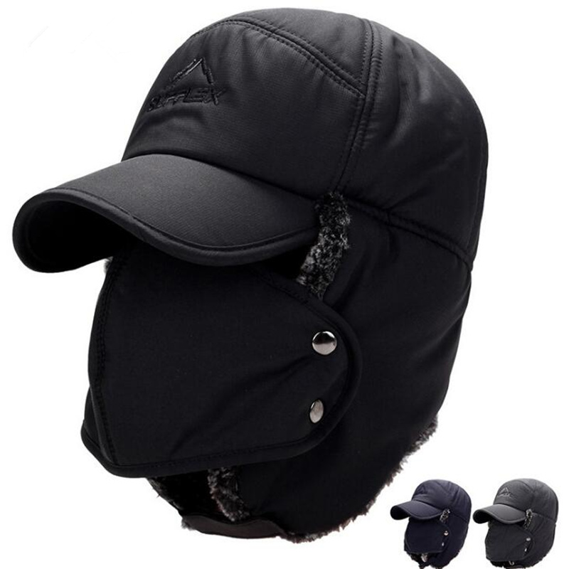 Waterproof Winter Thicken Warmer Hat With Mask Breathable Windproof Bicycle Snow Hikking Full Face Mask Warmer Dad Hat