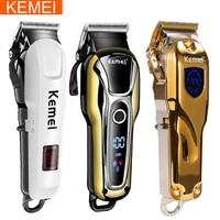 Kemei trimmer tagliatore di capelli professionale di taglio Dei Capelli della macchina dei capelli trimmer macchina taglio di capelli elettrico dei capelli Parrucchiere strumenti 5