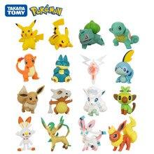 Tomy pokemon 3-7cm coleção de animais de estimação pikachu squirtle charmander eevee vulpix munchlax rotom bulbasaur anime figuras modelo brinquedos