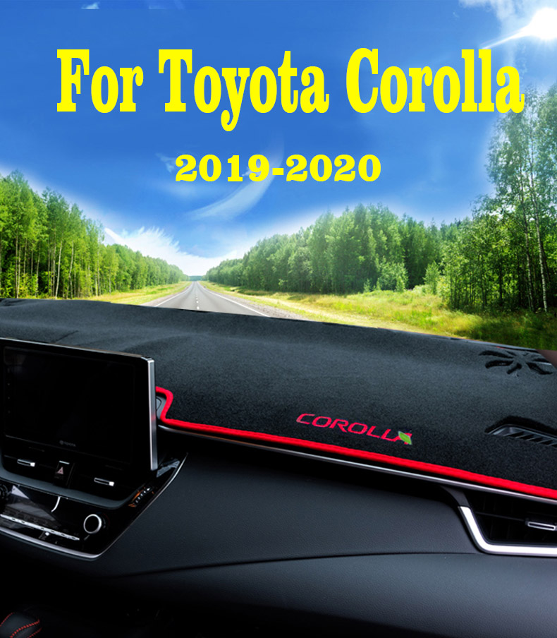 BLAKAYA Compatible with Auto Car Dashboard Carpet Dash Board Cover Mat Dash Protector for 2019 2020 Toyota Corolla Sun Cover Pad
