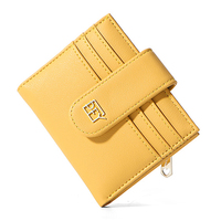 Luxury Slim Women Small Wallet and Purse Girls Short Leather Credit Card Holders Zipper Wallets Ladies Coin Purses Colorful Bag