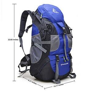Image 3 - 50L 하이킹 배낭 등산 가방 야외 배낭 캠핑 트레킹 방수 스포츠 가방 배낭 가방 등산 여행 배낭