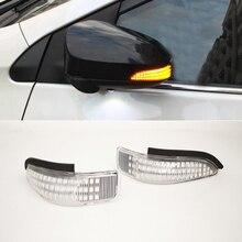 2 pçs para toyota camry corolla yaris venza estilo do carro âmbar sequencial blinker lado espelho indicador de volta sinal luz