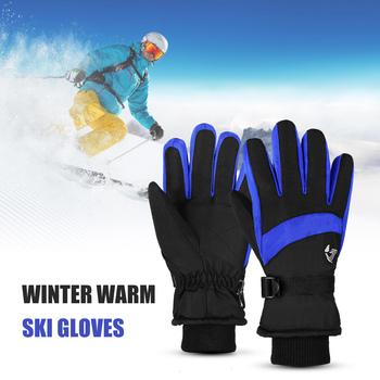 Outdoor narty sportowe rękawice wodoodporne oddychające zimowe ciepłe śnieg rękawiczki sportowe Snowboard narciarstwo Snowboard jazda konna rękawice turystyczne tanie i dobre opinie TOMSHOO Gloves Poliester