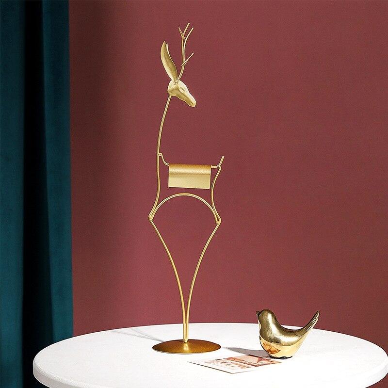 Купить скандинавский светильник роскошный золотой олень железное искусство