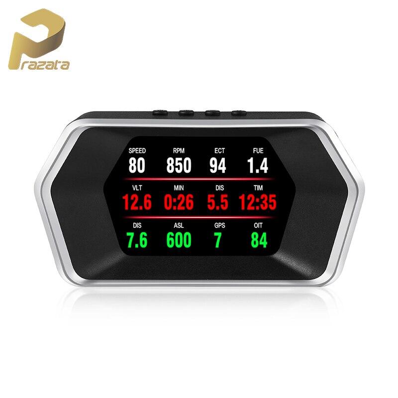 Car HUD Display OBD GPS HUD Car Head Up Display P17 Smart Large Screen Display Windshield Projector Voltage Overspeed RPM Alarm