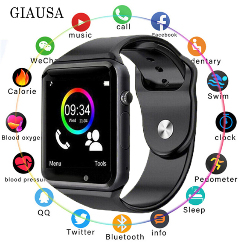 <font><b>Bluetooth</b></font> <font><b>A1</b></font> <font><b>Smart</b></font> <font><b>Watch</b></font> <font><b>Sport</b></font> Wristwatch Support 2G SIM TF Camera Smartwatch With 16G Card for Android Phone PK DZ09 Q18 Y1 V8 image