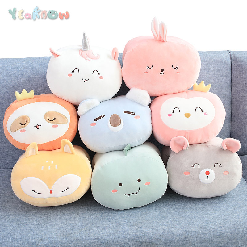 Yeaknow Warm Winter Hand Warmer Pillow Hot Animal Popular Plush Toy Unicorn Koala Rabbit Toys For Kids Children Christmas Gift