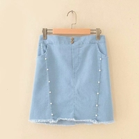 Plus size women skirt the A line Nice blue skirts