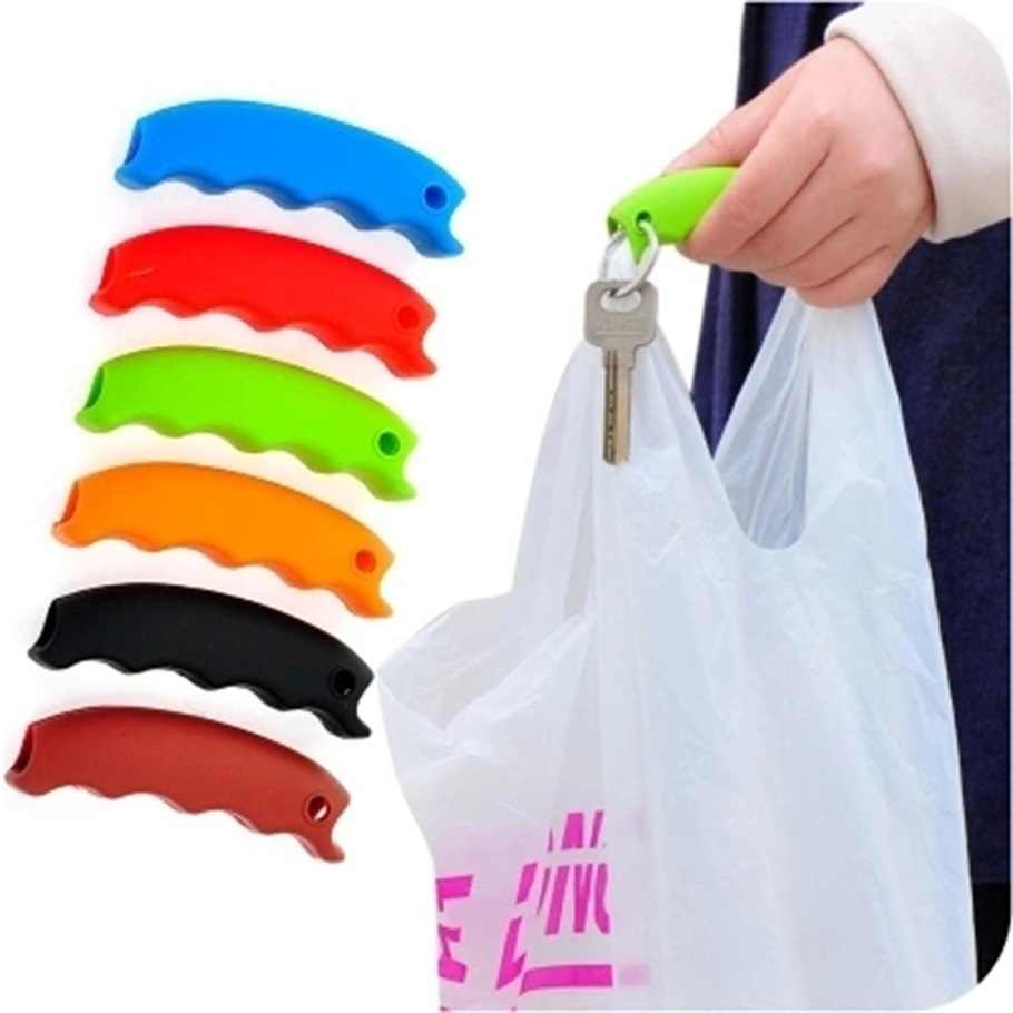 1Pc Silicone Shopping Bag Carrello Carrier Grocery Holder Handle Presa Comoda Popolare di Portare Lo Shopping Cestino Presa Comoda