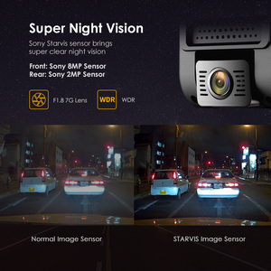 Image 5 - A129 Pro Duo VIOFO 4K Dual Dash Cam Ultra HD 4K for Road Front Newest 4K DVR Super Night Vision car camera with GPS and HK3