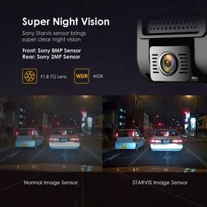 Image 5 - A129 pro duo viofo 4k câmera de ré dupla, ultra hd, 4k, para frente de estrada, mais nova 4k dvr câmera automotiva super de visão noturna com gps e hk3