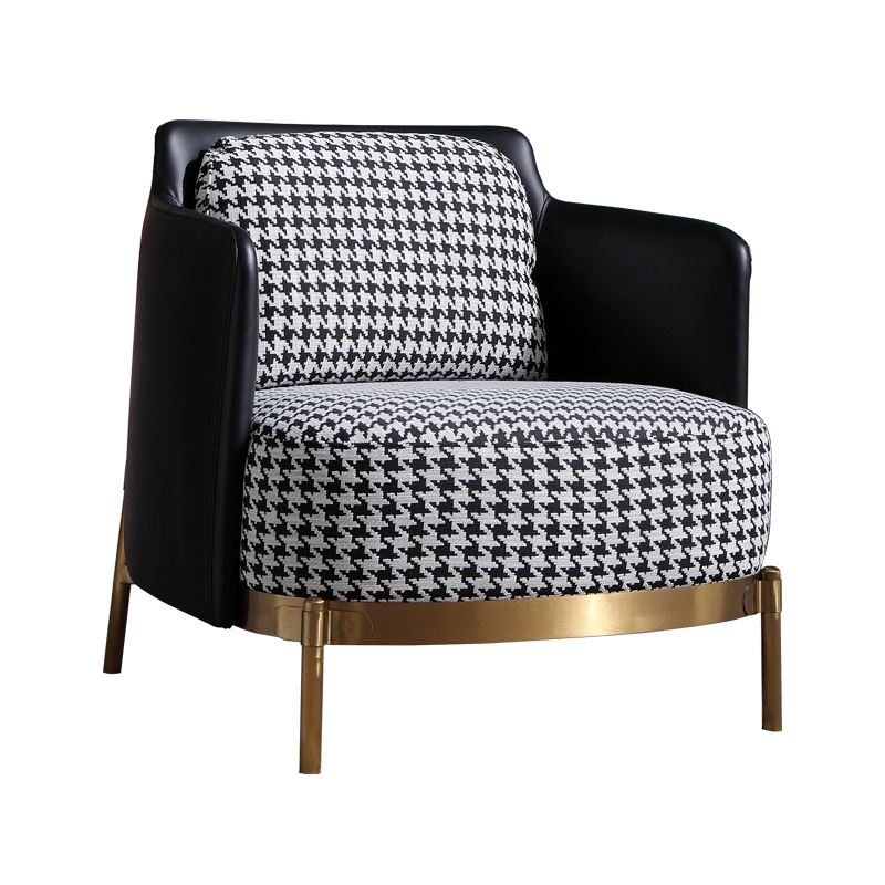 Nordic Leather Single Sofa Light Luxury Designer Living Room Rotating Leisure Chair Lazy Lounge Chair Tiger Chair Snail Chair