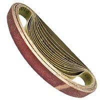 25 PCS Alumina Air Finger Sander Sanding Belts Grinder Woodwork 520mm * 20mm Wood Varnish Polishing Grinding Accessories