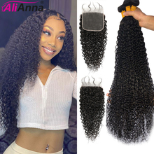 Closure Bundles Remy-Hair Alianna Malaysian And Curly
