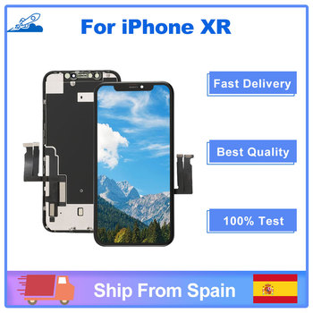 100 OEM dla iphone XR OEM ekran LCD wymiana wyświetlacz z 3D dotykowy Digitizer zgromadzenie statek z hiszpanii tanie i dobre opinie Elekworld NONE CN (pochodzenie) Ekran pojemnościowy 1920x1080 3 AMOLED For iphone XR LCD i ekran dotykowy Digitizer