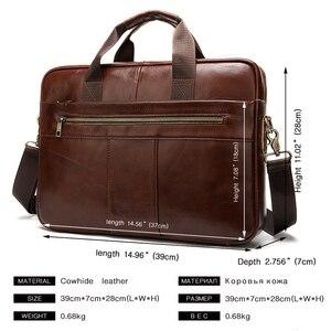Image 3 - WESTAL mens briefcase bag mens genuine leather laptop bag business tote for document office portable laptop shoulder bag  8523