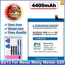 Losoncoer 4600 mah bu15 para meizu meizy meilan u20 bateria de telefone de alta capacidade ~ em estoque