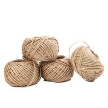 Xugar 30M doğal jüt halat DIY el yapımı malzemeler çuval bezi sicim kabloları Scrapbooking zanaat dize hediye paketleme ev gereçleri