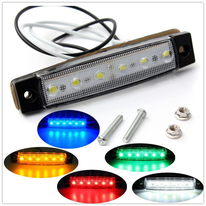 Truck Markerings Light Tail Lights LED Marker Light 12V 6 LED Side Marker Light Tail Lights Side Lights For Trailer Truck BUS