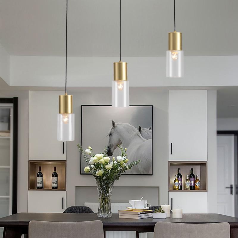 Nordic Pendant Lights Glass Ball  Living Room   Restaurant  Lustre Pendente