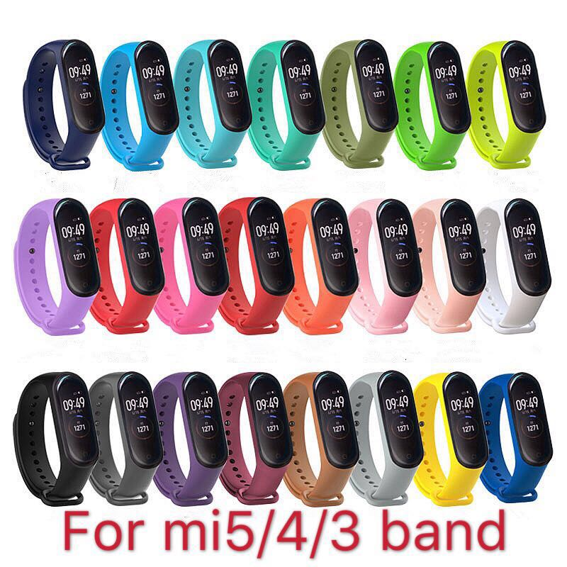Band Voor Xiaomi Mi Band 5 4 3 Sport Polsband Siliconen Armband Mi Band 3 4 Band5 Vervanging Bandjes Voor mi Band 5 Horloge Band 1